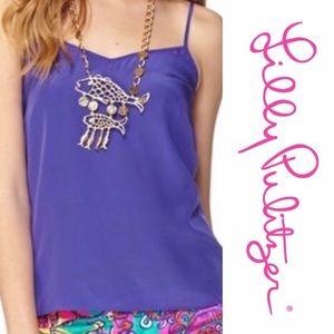 Lilly Pulitzer Dusk silk Top in purple Sz L
